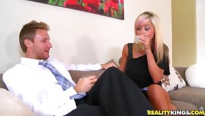 Beautiful mom was picked upon at a bar coupled with fucked hard at home