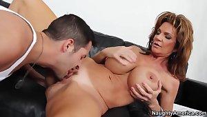 Deauxma burnish apply hot MILF fucks a young stud