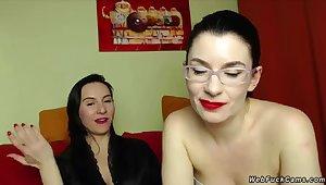 Milf lesbians flashing cunts on cam