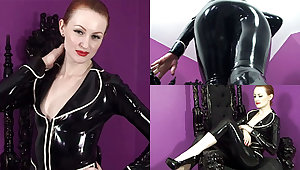 Anita de Bauch up Black Jacket and Capri Pants - LatexHeavenVideo