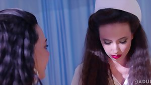 Horny and dispirited nurse Casey Calvert loves nothing save for lesbian threesome