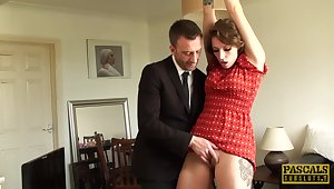 av4 avs73n - British MILF is a submissive penis warmer
