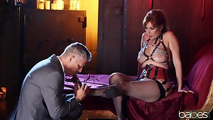 A remarkable hardcore play with a redhead MILF