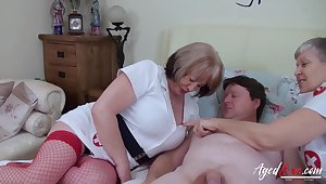 British mature upper classes enjoying hardcore trilogy sex with sizzling handy man