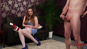 Naughty model Sophia Delane loves obeying her man masturbate