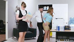 Dazzling nude secretary fucks down her boss give pretty rough scenes