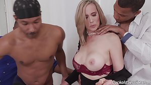 Nasty wife gets triple penetrated away from diabolical dudes - Lilly James