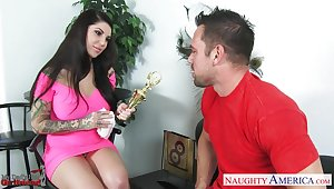 Johnny Castle bangs sexy dad's girlfriend Darling Danika in frowardness and pussy
